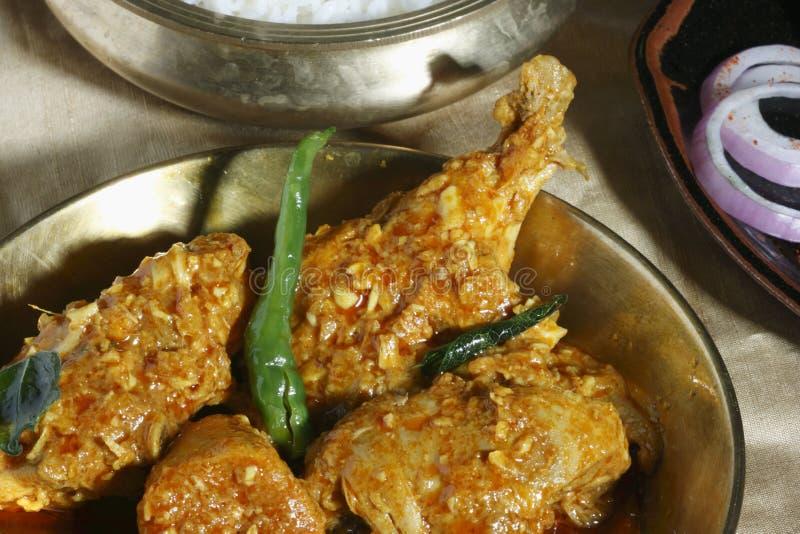 Un poulet de plat épicé de Hyderabad photos stock