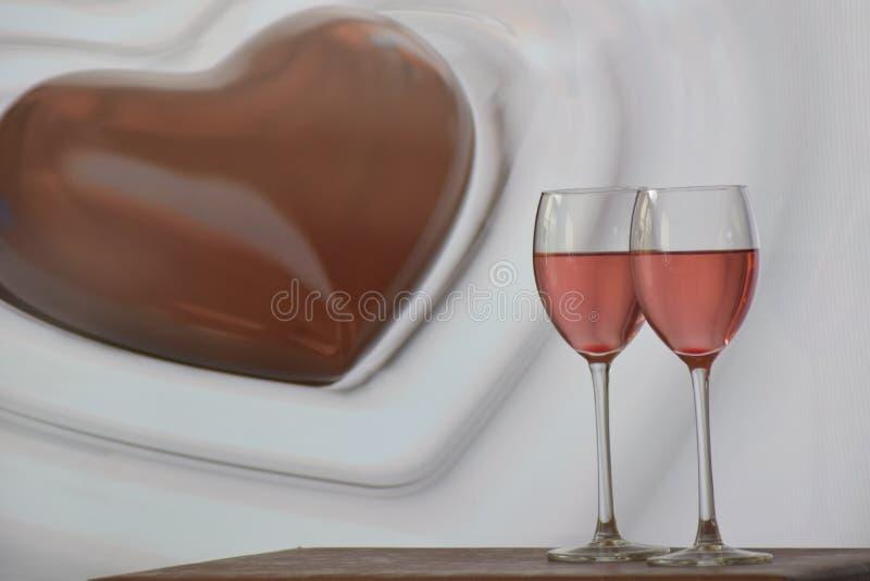 Un présent le jour de valentines photo libre de droits