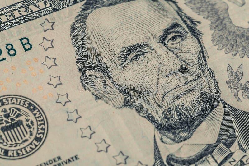 Un primer de la cuenta de dólar imagenes de archivo