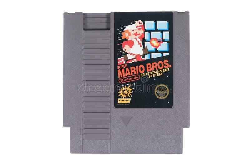 Un primer de Mario Bros estupendo para Nintendo NES imagen de archivo libre de regalías