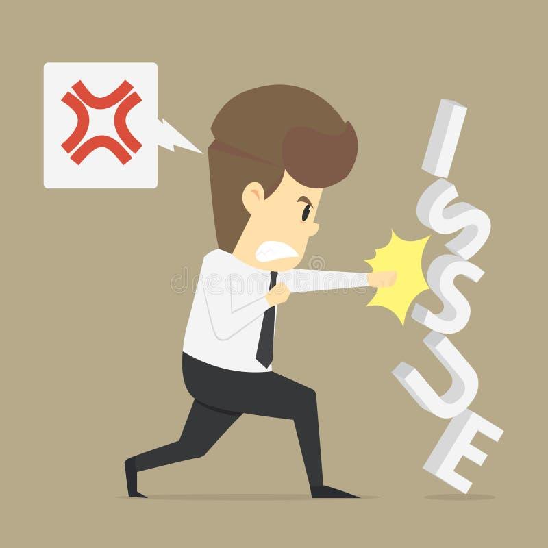 Un problema del sacador del hombre de negocios libre illustration