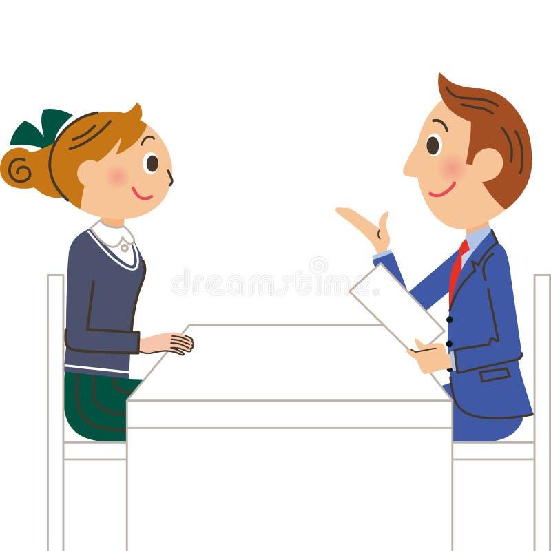 Un professeur et un étudiant illustration libre de droits