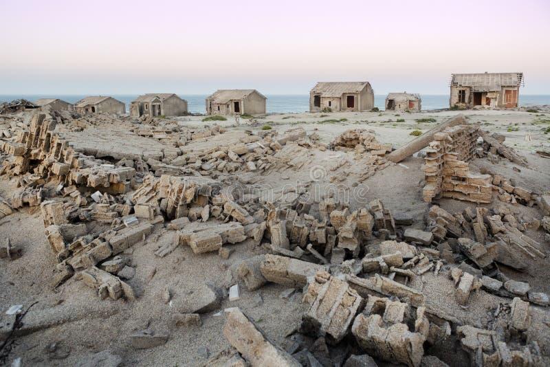 Un pueblo fantasma en Namibia fotografía de archivo libre de regalías