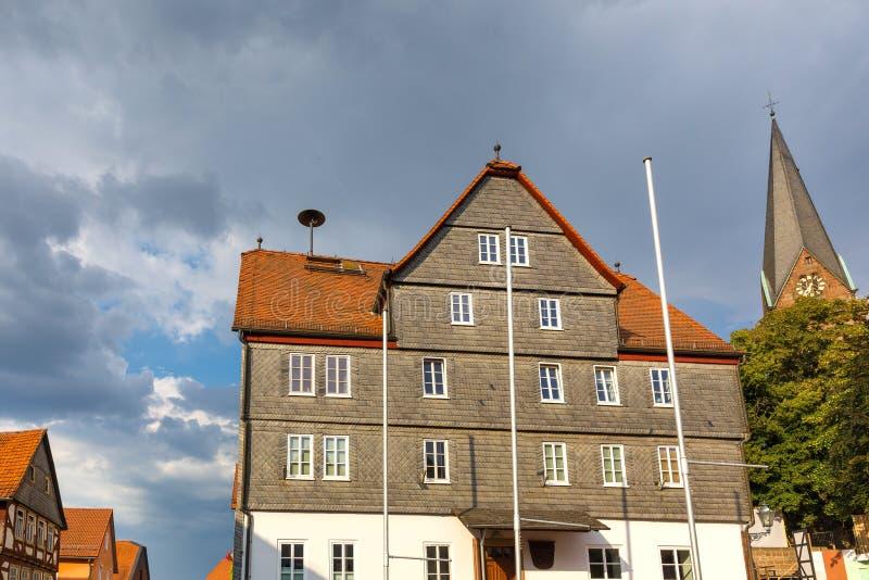 Un pueblo histórico más mojado Hesse Alemania fotografía de archivo