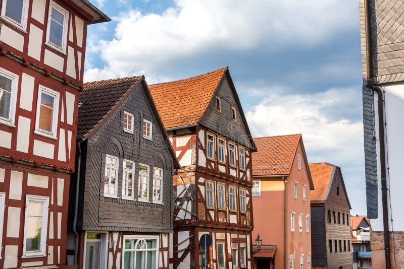 Un pueblo histórico más mojado Hesse Alemania imágenes de archivo libres de regalías