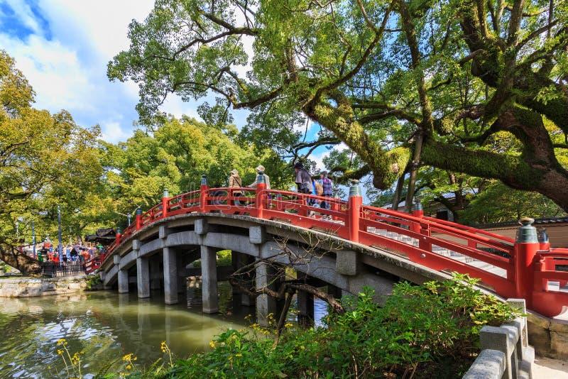 Un puente a Dazaifu Tenmangu foto de archivo