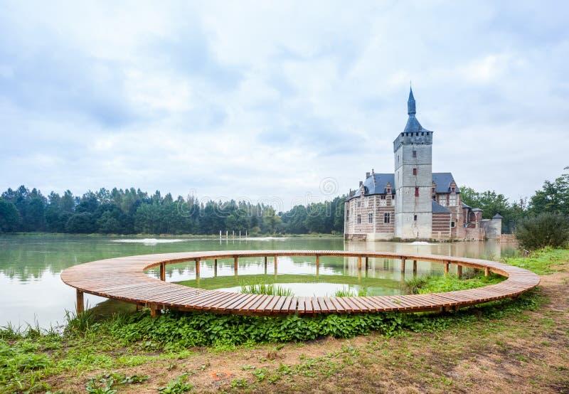 Un puente y el castillo de Horst foto de archivo libre de regalías