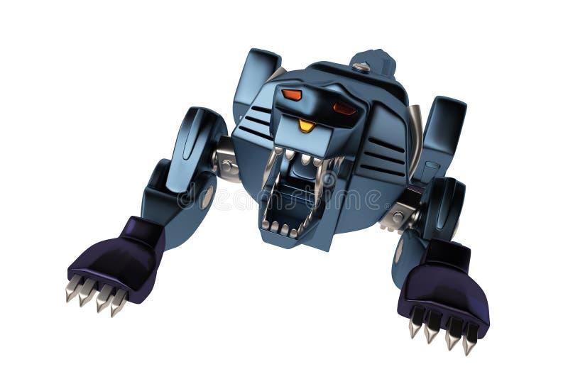 Un puma bleu de machine illustration libre de droits