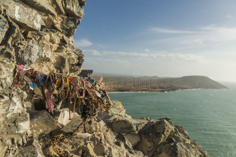 Un punto di vista di Cabo de la Vela in Colombia fotografia stock