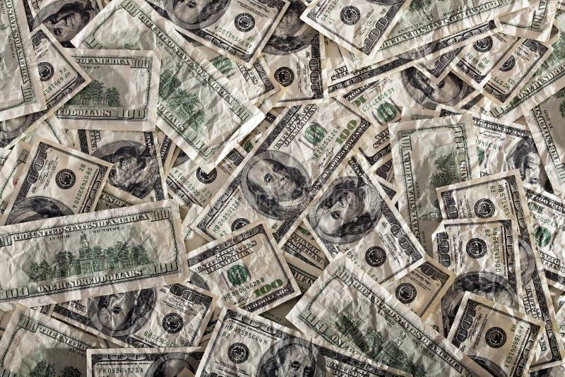 Fondo Contrasty sudicio sgualcito di Franklins immagini stock
