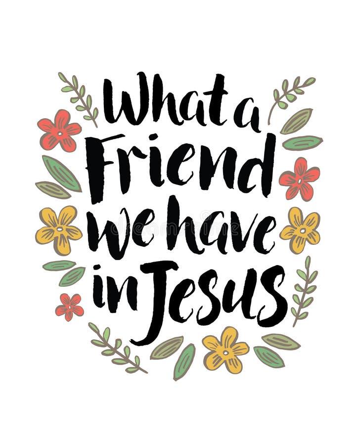Un qué amigo tenemos en Jesús stock de ilustración