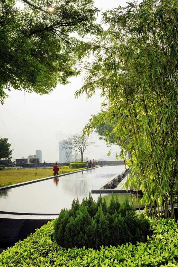 Un réservoir artificiel dans le jardin de Monte Fort dans Macao image stock