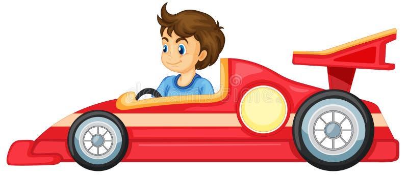 Un ragazzo che conduce un'automobile illustrazione di stock