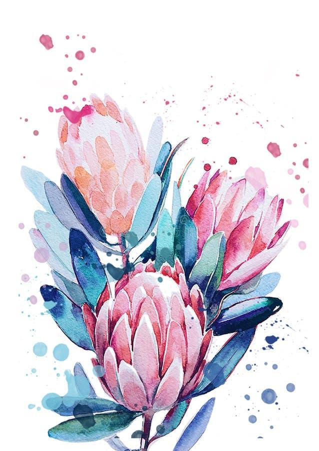Un ramo de flores stock de ilustración