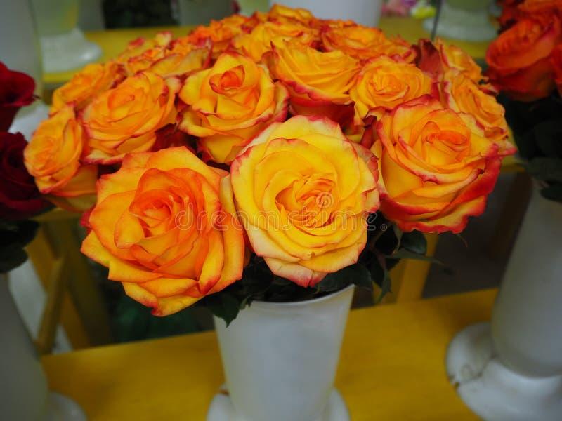 Un ramo de rosas amarillas foto de archivo libre de regalías