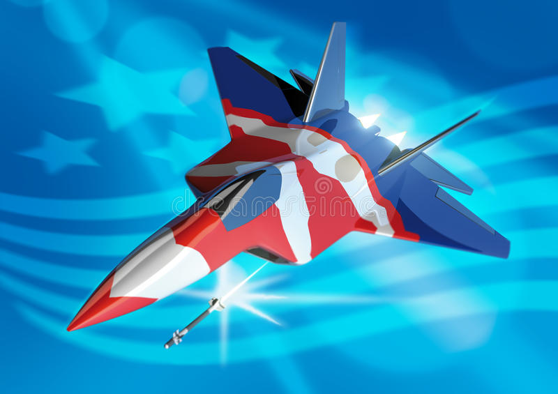 Un rapace F22 stylisé illustration de vecteur