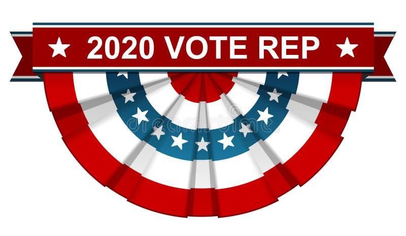 un rappresentante di 2020 voti illustrazione vettoriale