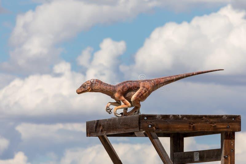 Un Raptor Dinosaur estinto fotografie stock