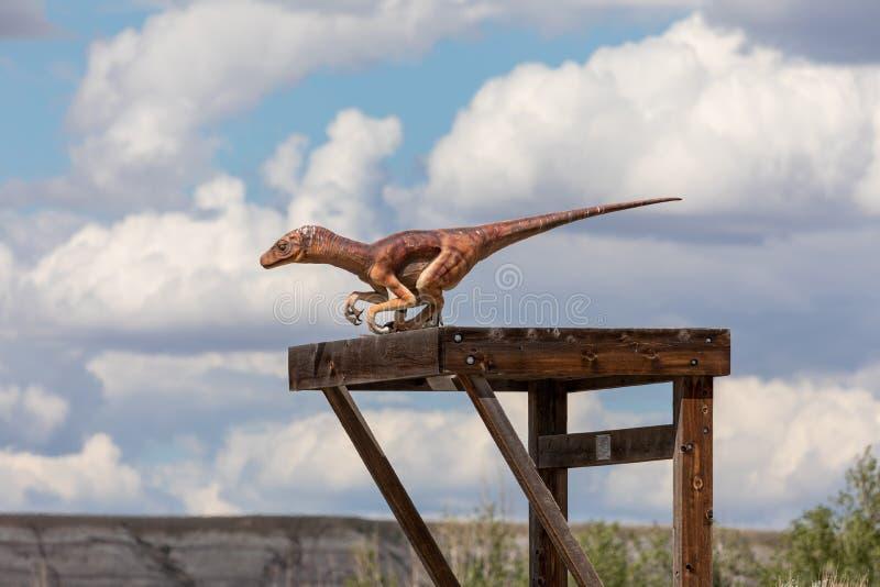Un Raptor Dinosaur estinto immagine stock