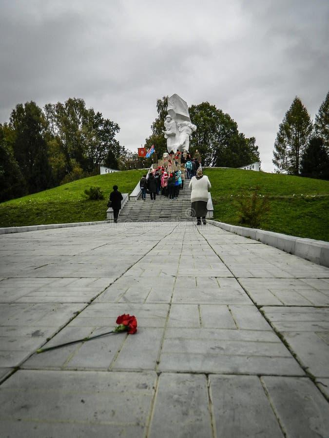 Un rassemblement commémoratif en tant qu'élément de la reconstruction de la bataille de la guerre mondiale 2 près de Moscou image libre de droits