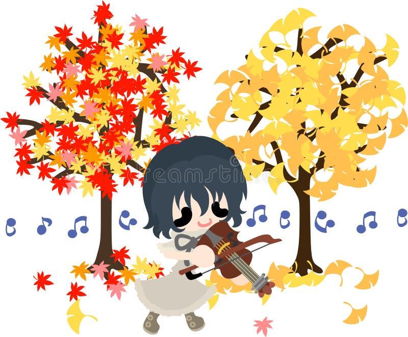 Un rato del otoño ilustración del vector
