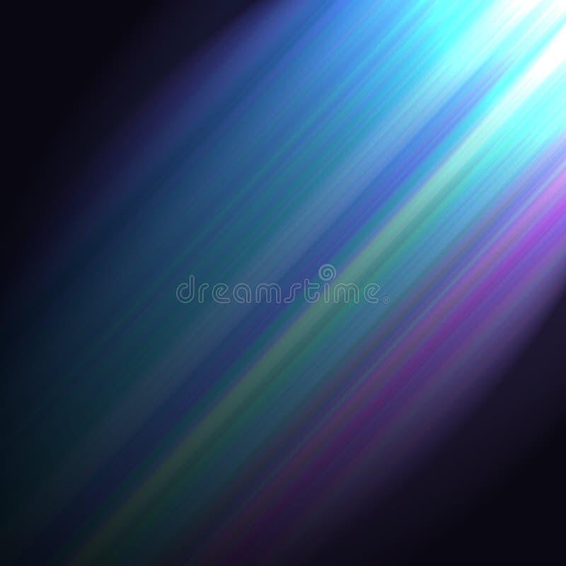 Un rayo ligero de colores suaves ilustración del vector