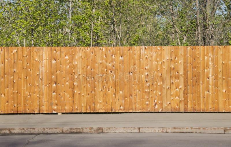 Un recinto di legno pulito fotografia stock libera da diritti