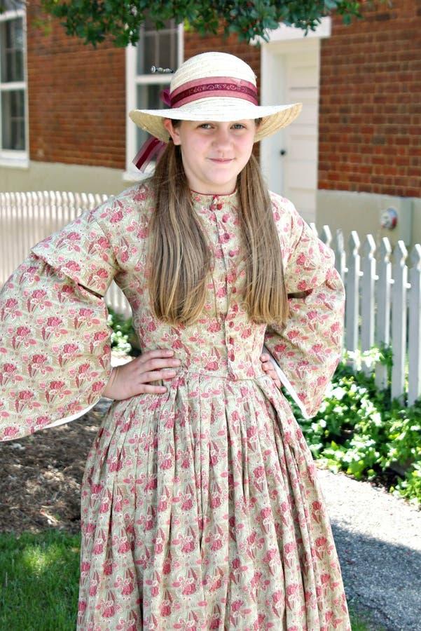 """Un Reenactor femenino en el """"Battle del  de Liberty†- Bedford, Virginia imagenes de archivo"""