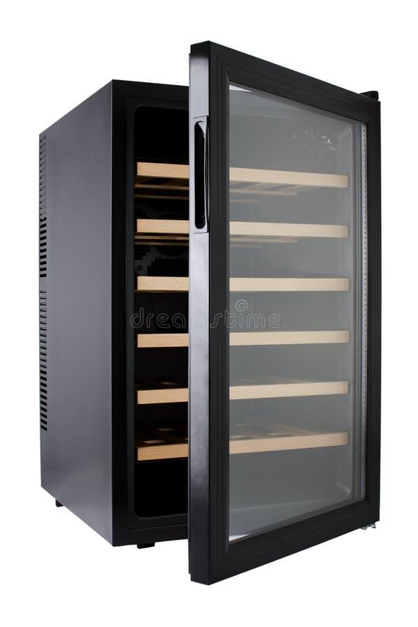 Un refrigerador del vino imagen de archivo libre de regalías