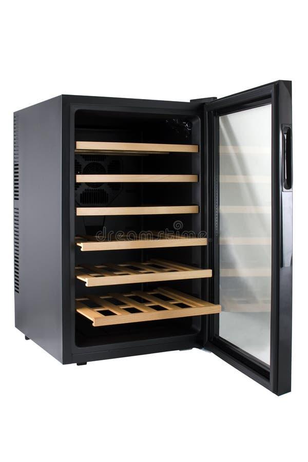 Un refrigerador del vino fotografía de archivo libre de regalías