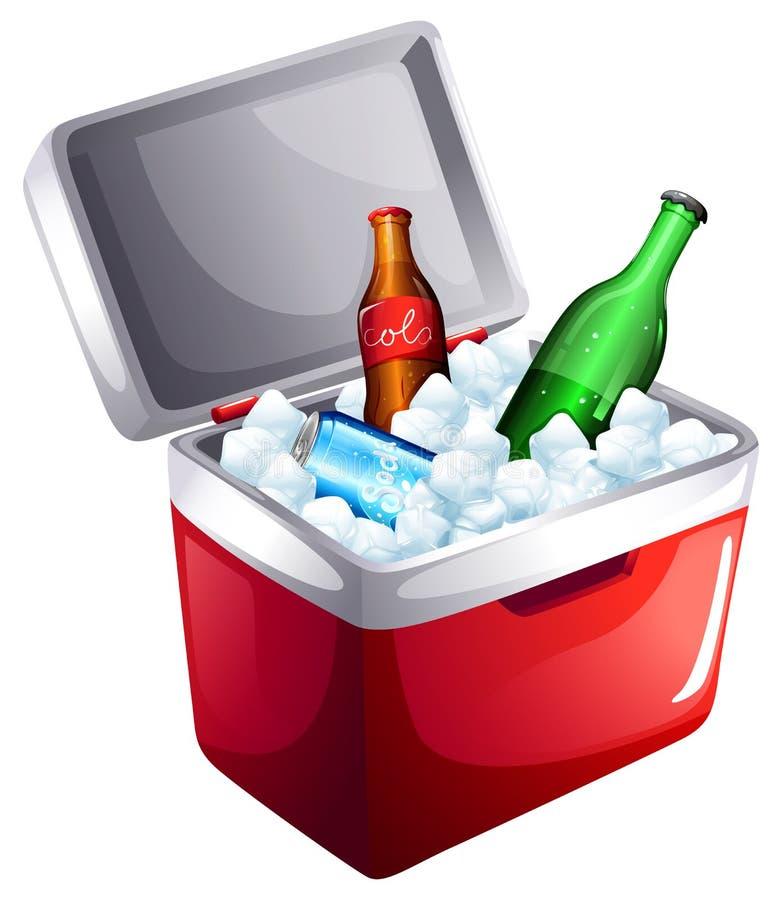 Un refroidisseur avec des boissons non alcoolisées illustration de vecteur