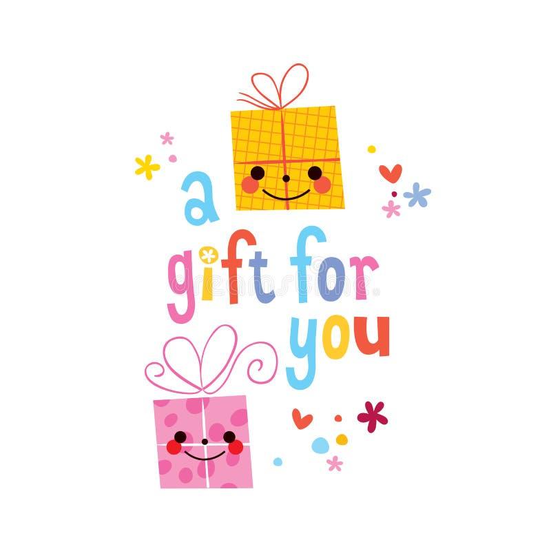 Un regalo para usted stock de ilustración