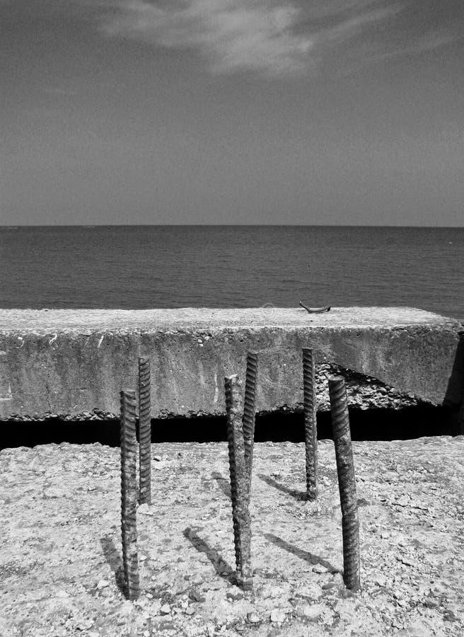Un regard à la Mer Caspienne du sud en Azerbaïdjan rural photographie stock libre de droits