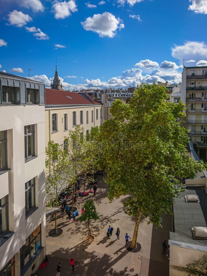 Un regard de coin d'en-haut, Paris, France images stock