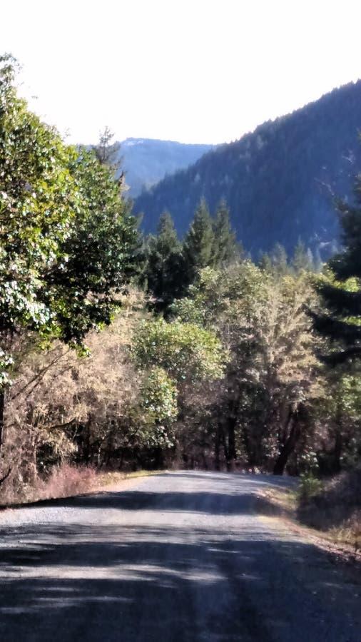 Un regard en bas de la montagne photo libre de droits
