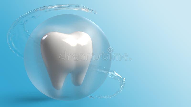 Un rendu des dents 3d pour le contenu de soins de santé illustration stock