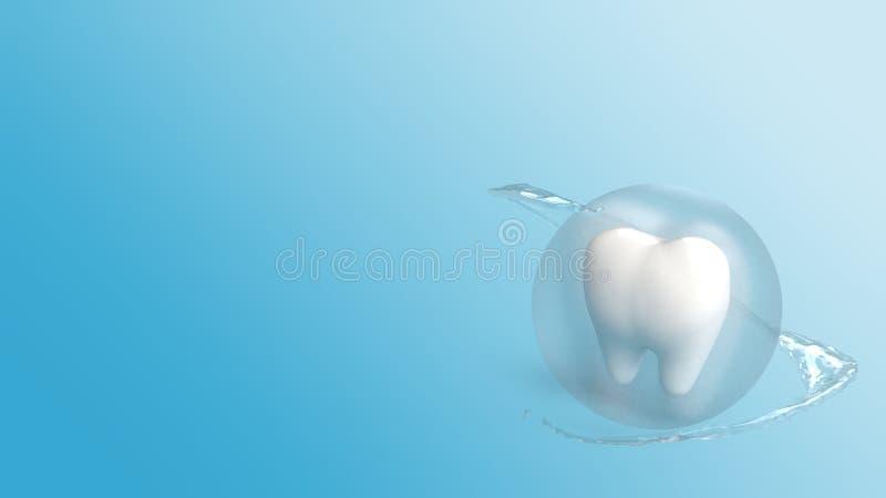 Un rendu des dents 3d pour le contenu de soins de santé illustration libre de droits