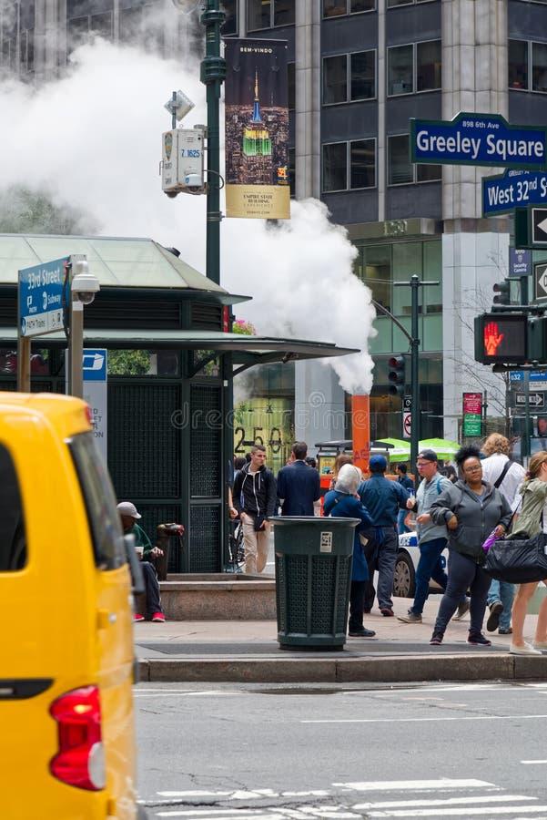 Un respiradero del vapor en New York City, los E.E.U.U. imagen de archivo libre de regalías