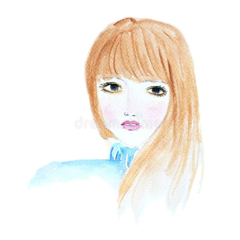 Un retrato del ` s de la muchacha imagenes de archivo