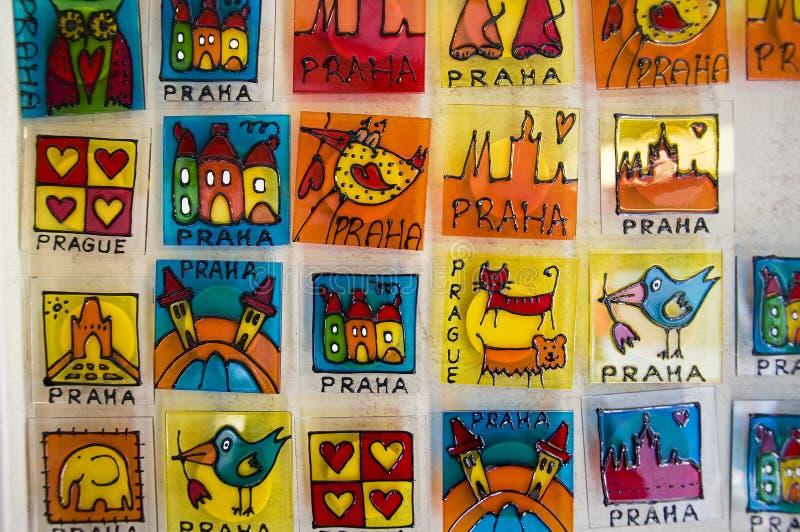 Un ricordo da Praga, dettaglio artistico del viaggio fotografia stock