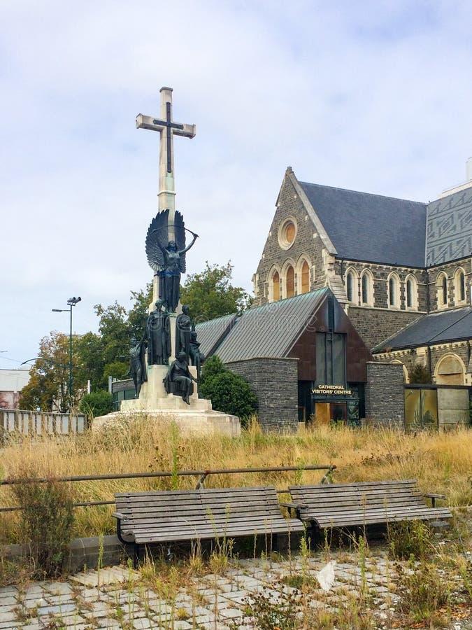 Un rincón de la catedral de Christchurch, Nueva Zelanda imagen de archivo