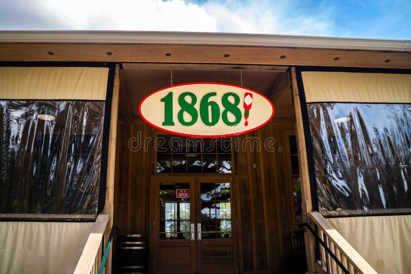 Un ristorante dentro il giro della fabbrica e dell'alimento di Tabasco in Avery Island, Luisiana immagine stock libera da diritti