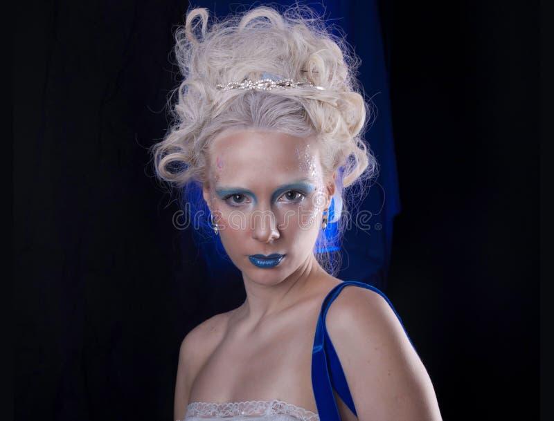 Un ritratto blu fotografia stock