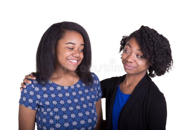 Un ritratto di 2 adolescenti fotografia stock