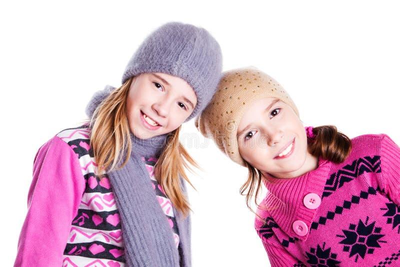 Un ritratto di due giovani belle ragazze immagine stock libera da diritti