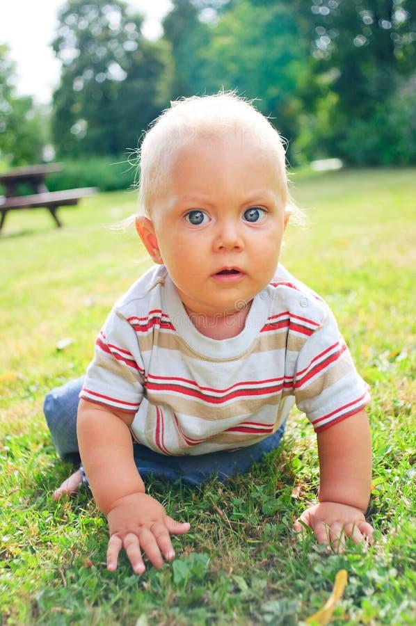 Un ritratto di un ragazzino da 10 mesi immagini stock