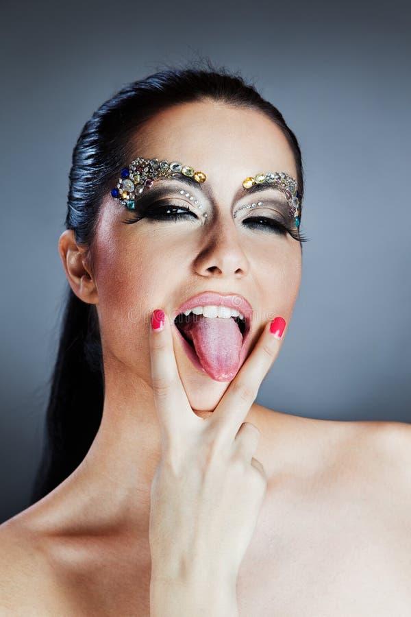 Donna caucasica affascinante immagini stock