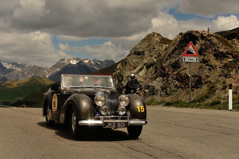 Un roadster brun 1800 de Triumph image libre de droits