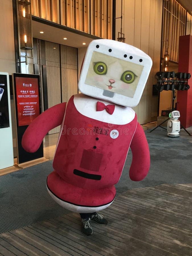 Un robot amistoso fotos de archivo libres de regalías