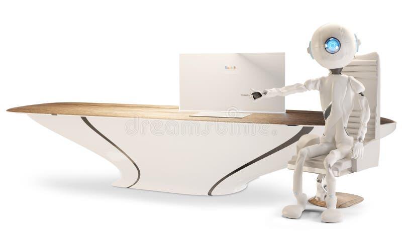 Un robot está señalando en algo 3D-Illustration libre illustration